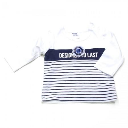 Babykleding 3 delig pakje 'Vintage' blauw/wit €24,95