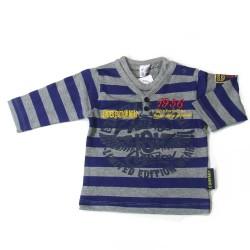 Babykleding Boy's longsleeve 'Limited Edition' kobalt €9,95