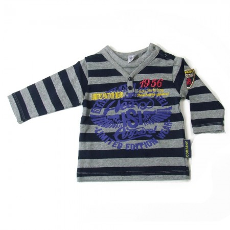 Babykleding Boy's longsleeve 'Limited Edition' navy € 9,95