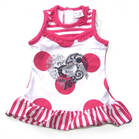 Babykleding Jurkje 'Girls with Flair' fuchsia € 14,95