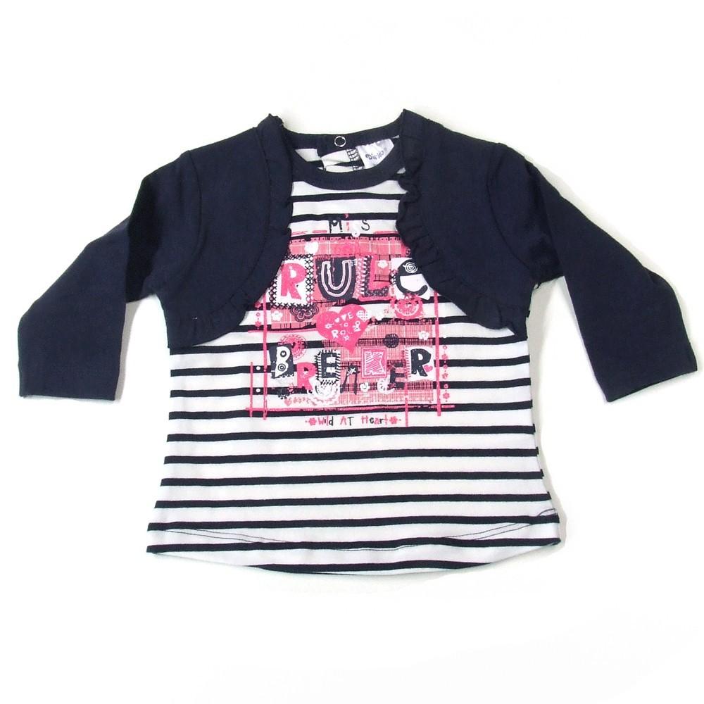 Babykleding Meisjes shirt 'Love Rules' €9,95