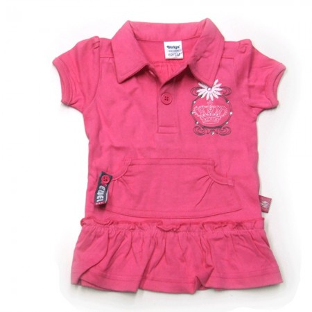 Babykleding Polo 'Crown jewel' rose € 9,95