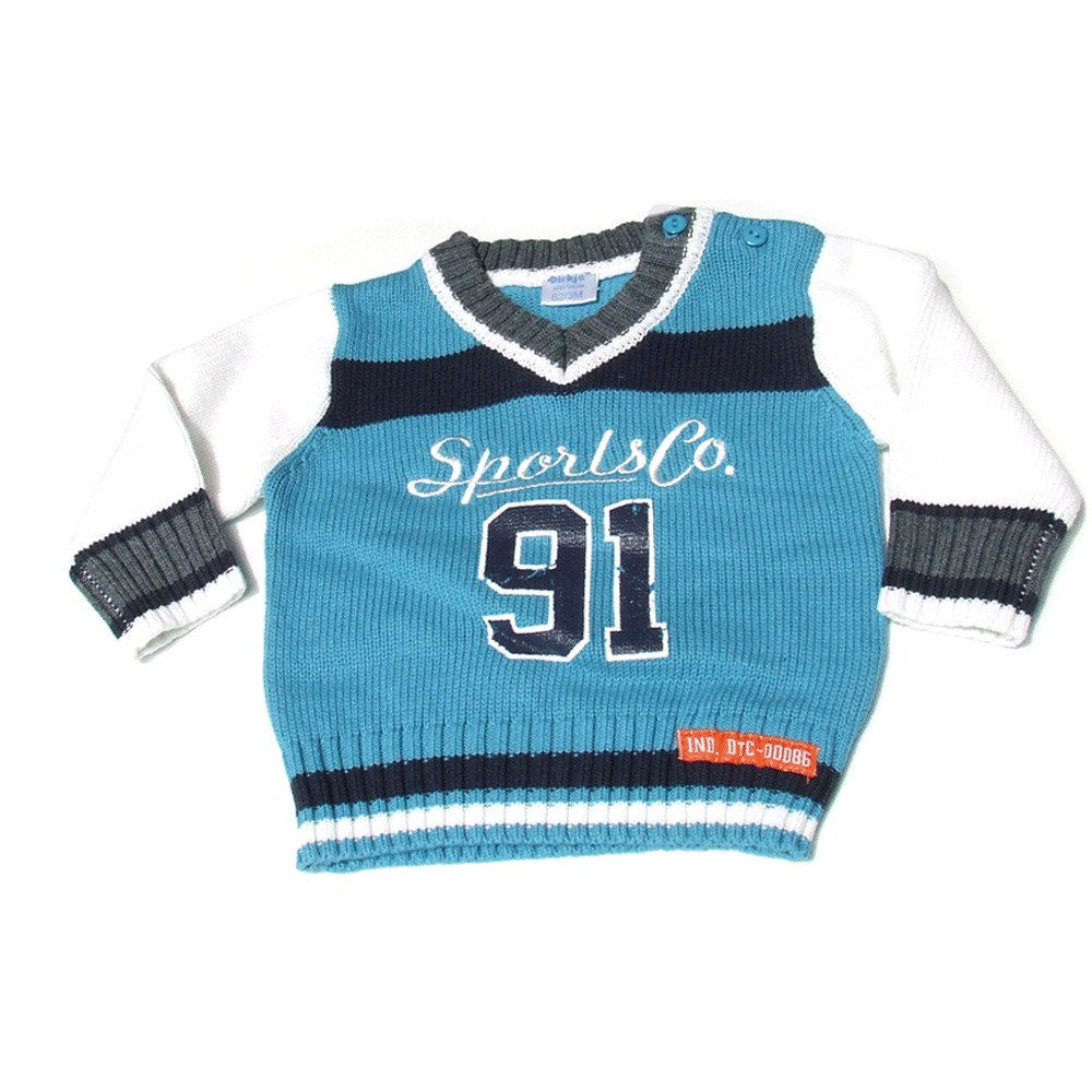 Pullover '91' light blue