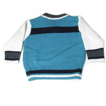 Babykleding Pullover '91' light blue € 14,95