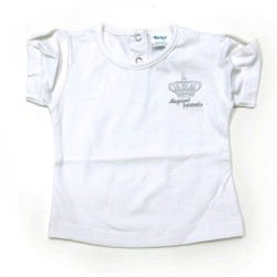 Babykleding T-shirt 'Crown jewel basic' wit € 6,95