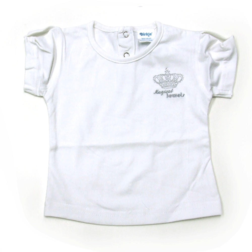 T-shirt 'Crown jewel basic' wit