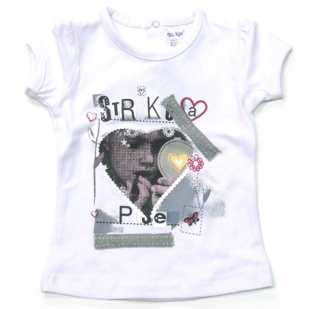Babykleding T-shirt girls 'Strike a Pose' € 8,95