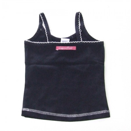 Babykleding Topje 'Girls with Flair' blauw € 7,95