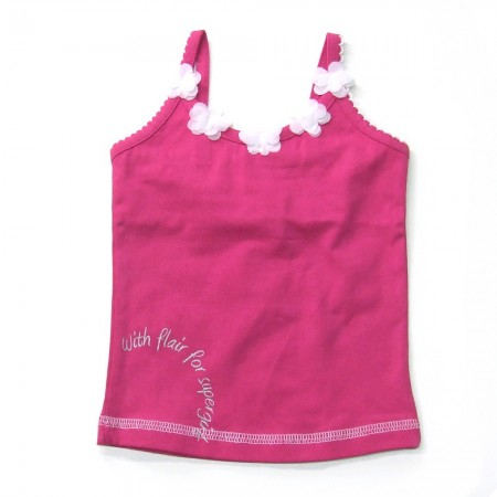 Babykleding Topje 'Girls with Flair' fuchsia € 7,95
