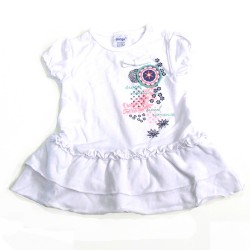 Babykleding Tuniek 'Sweet Romance' white €14,95