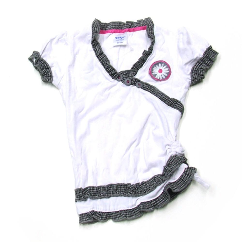 Babykleding V-hals t-shirt 'Crown jewel' €12,50