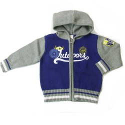 Babykleding Wintervest 'Great Outdoors' kobalt € 19,95