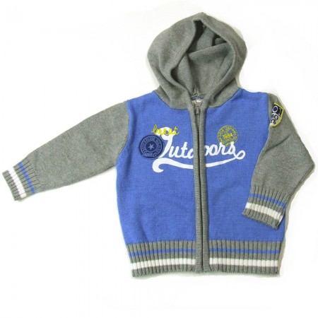 Babykleding Wintervest 'Great Outdoors' lichtblauw € 19,95