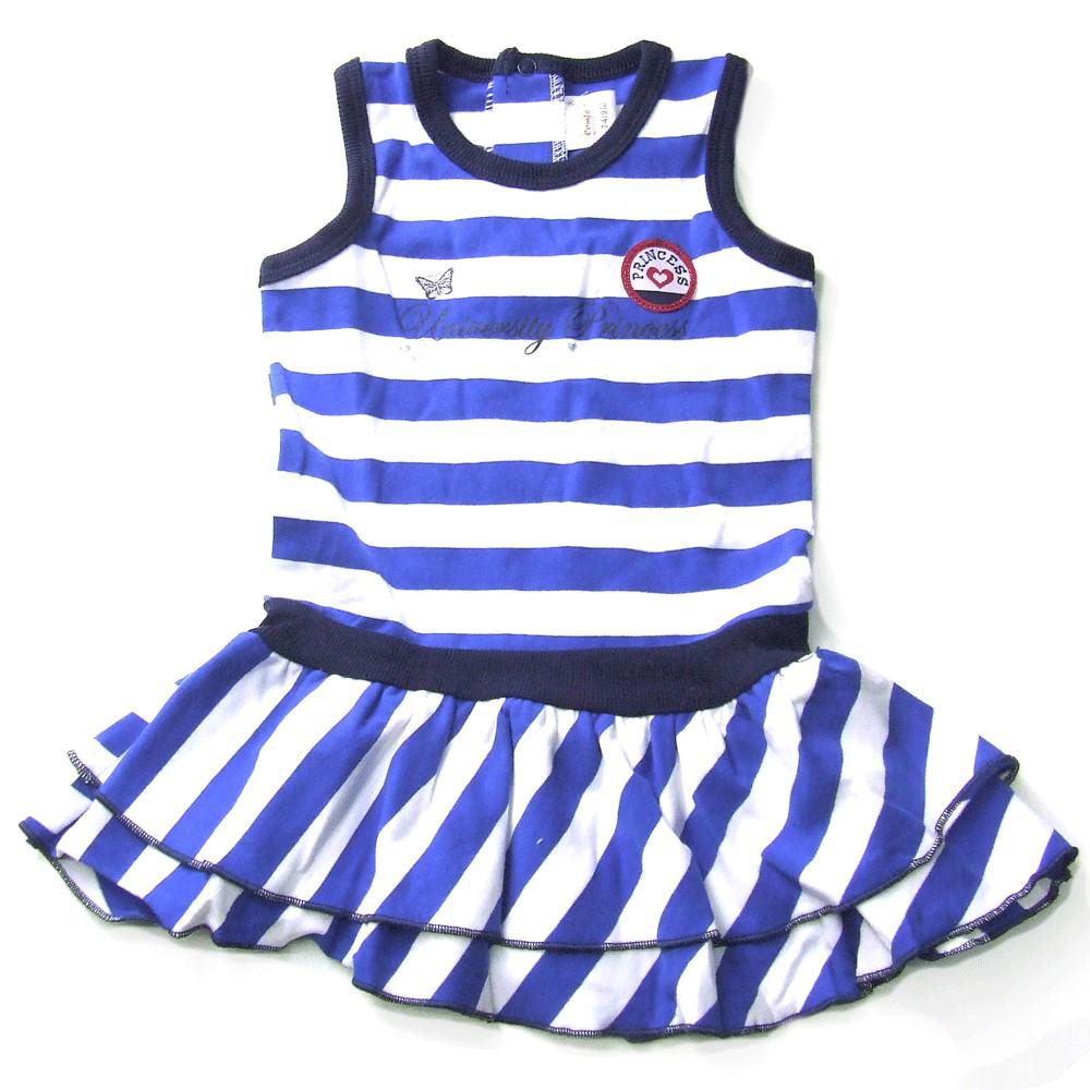 Zomerjurkje girls 'University Princess' blauw