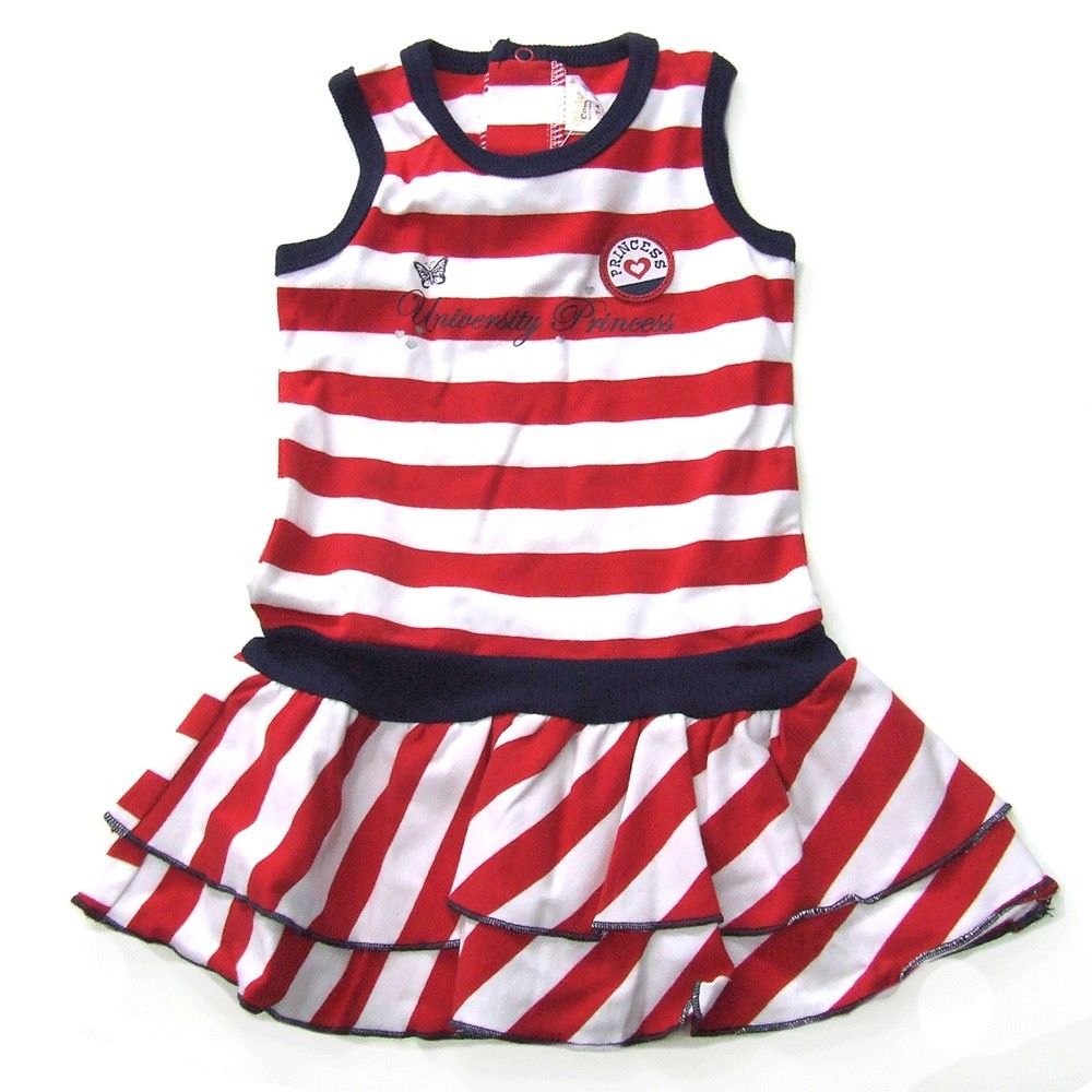 Babykleding Zomerjurkje girls 'University Princess' rood € 14,95