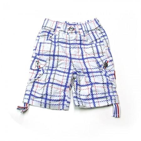 Babykleding Jongens capri 'High five' geruit €14,95