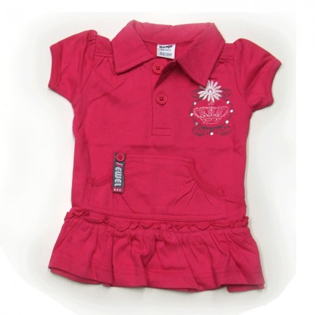 Babykleding Polo 'Crown jewel' fuchsia € 9,95