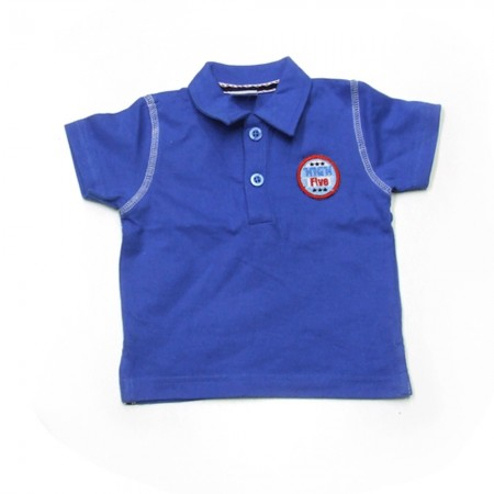 Babykleding Polo 'High five' kobalt € 9,95