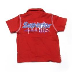 Babykleding Polo 'High five' rood €9,95