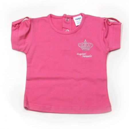 Babykleding T-shirt 'Crown jewel basic' rose € 6,95