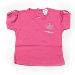Babykleding T-shirt 'Crown jewel basic' rose €6,95