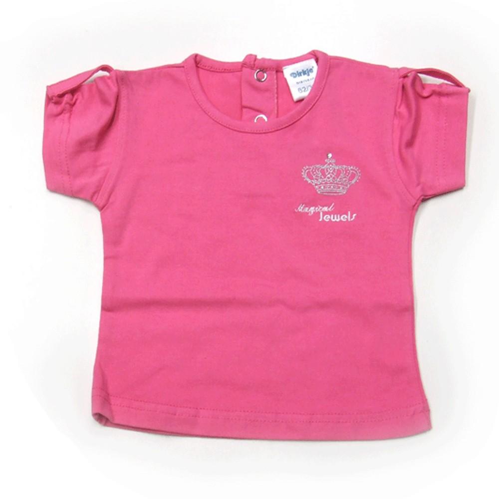 T-shirt 'Crown jewel basic' rose