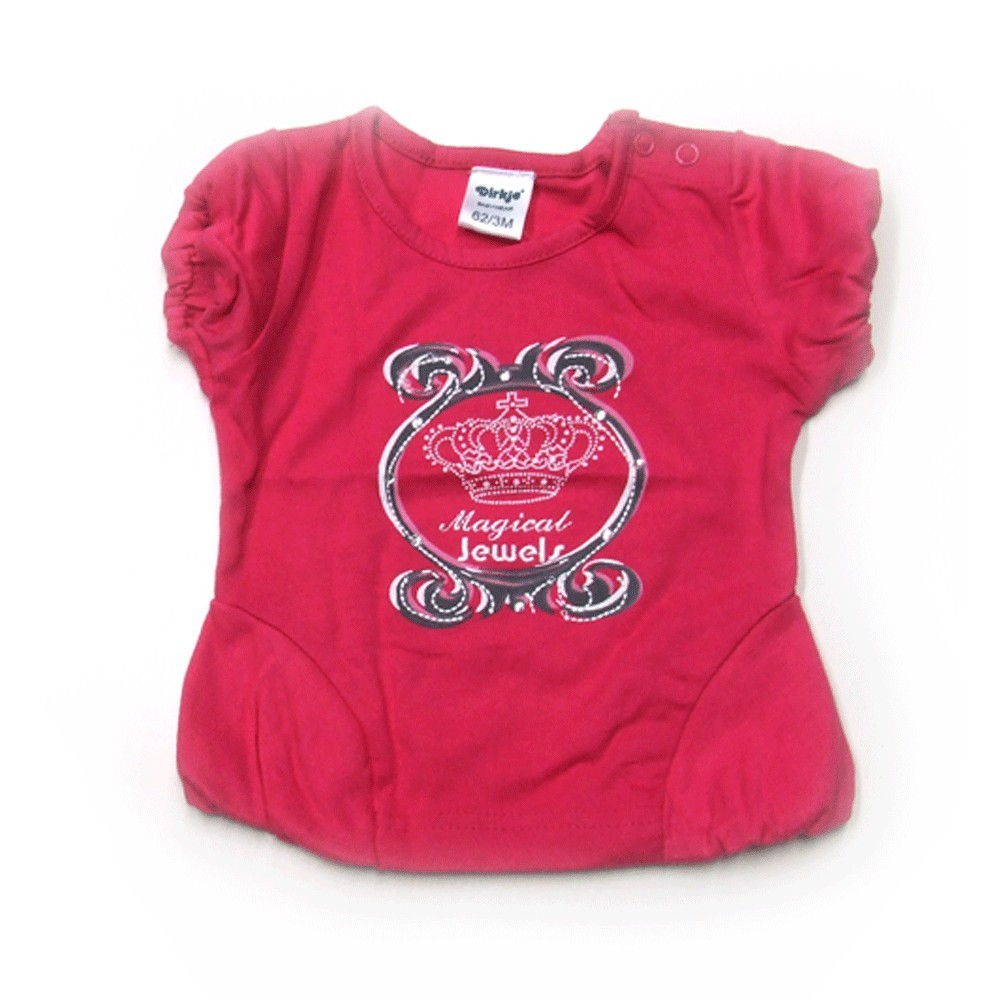 Babykleding T-shirt 'Crown jewel' fuchsia € 7,95