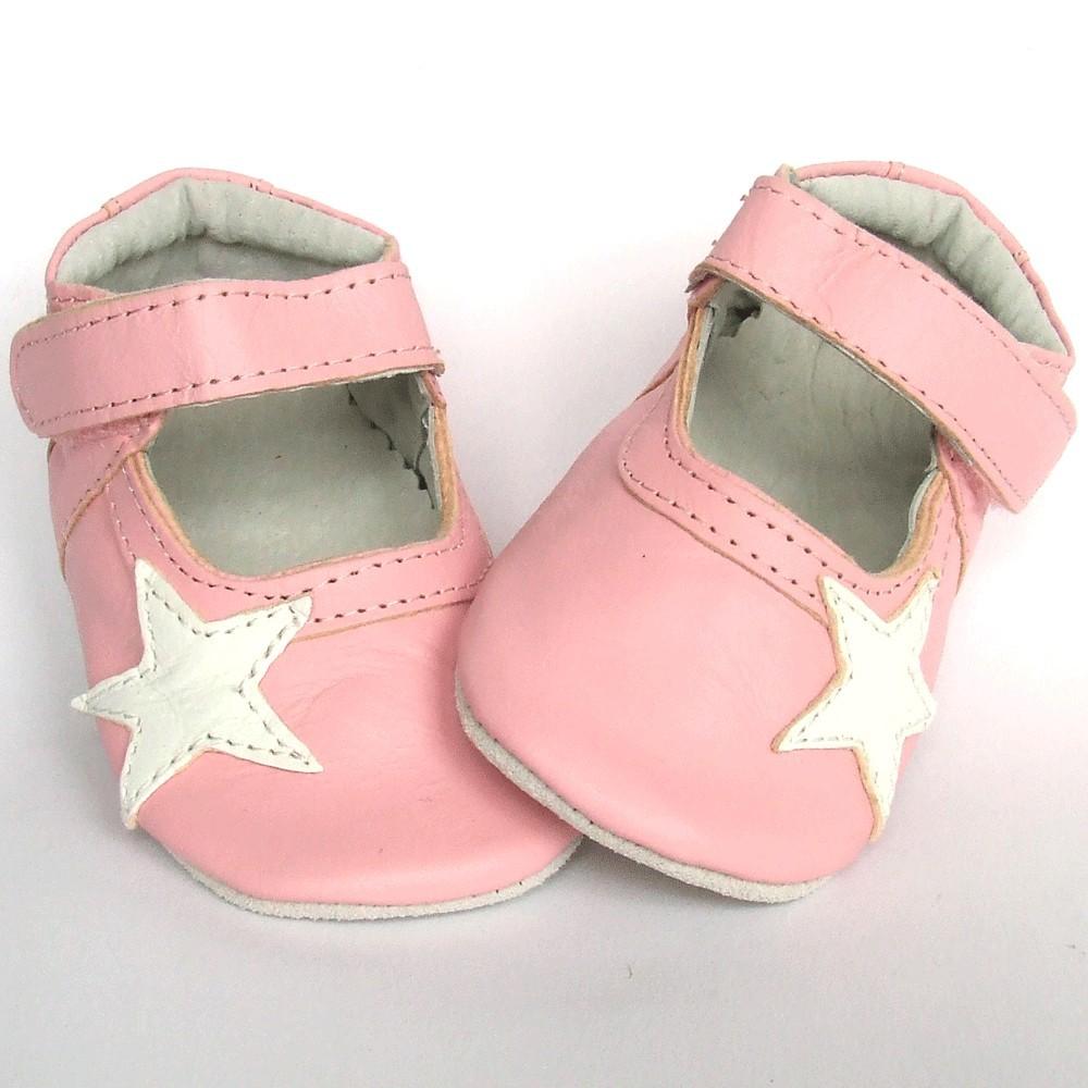 Leren babyslofje Blossom Star Pink