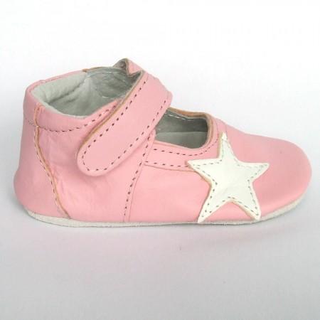 Babyslofjes Leren babyslofje Blossom Star Pink €19,49